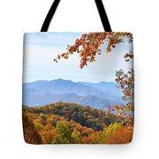 Autumn View Of The Smokies Tote Bag