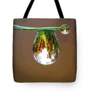 Autumn Vineyard In A Drop Of Due Tote Bag