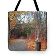 Autumn Walk At West Thompson Lake  Tote Bag
