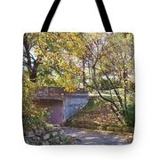 Autumn Walk In The Park Tote Bag