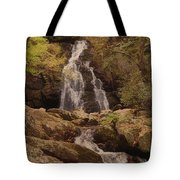 Autumn Waterfall In The Great Smoky Mountains Tote Bag