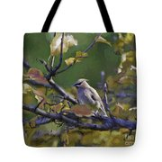 Autumn Waxwing 2 Tote Bag