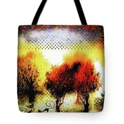 Autumn With Cat Focus Tote Bag