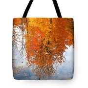 Autumn With Colorful Foliage And Water Reflection 19 Tote Bag