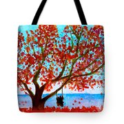 Together In Autumn  Tote Bag