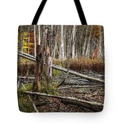 Autumn Woodland Marsh Scene Tote Bag