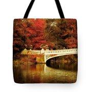 Autumnal Bow Bridge  Tote Bag