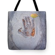 Autumns Child Or Hand In Concrete Tote Bag