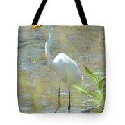 Autumn's Egret Tote Bag