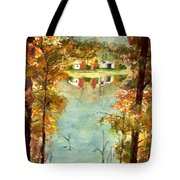 Autumn's Peaceful Abode  Tote Bag
