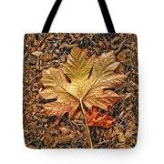 Autumn's Textured Maple Leaf Tote Bag