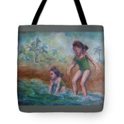 Ava And Friend Tote Bag