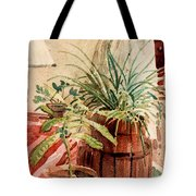 Avacado And Spider Plant Tote Bag