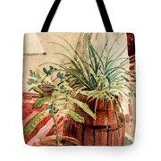 Avacado And Spider Plant Tote Bag
