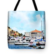 Avalon Casino Harbor, Catalina Tote Bag