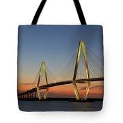 Avenell Bridge Sunset Tote Bag