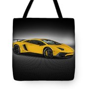 Aventador Lp 750-4 Sv New Giallo Orion Tote Bag