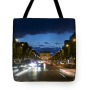 Avenue Des Champs Elysees. Paris Tote Bag