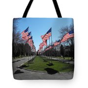 Avenue Of 444 Flags Tote Bag