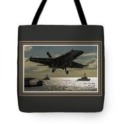 Aviation Art Catus 1 No. 26 L A With Decorative Ornate Printed Frame. Tote Bag
