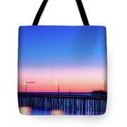 Avila Beach Pier At Sunset Tote Bag