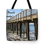 Avila Pier Avila Beach California Tote Bag