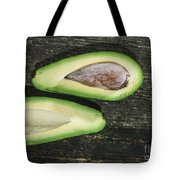 Avocado On Wood Tote Bag