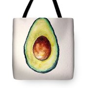 Avocado Paint Tote Bag