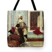 Awaiting An Audience Tote Bag by Rudolphe Ernst