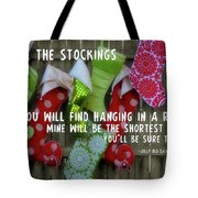 Awaiting Santa Tote Bag