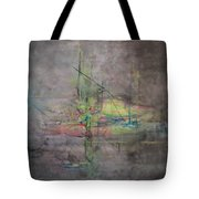Awakening Abstract 1 Black Background Bright Detail Tote Bag by Lizzy Forrester