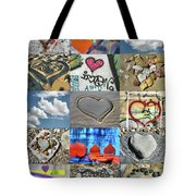 Awesome Hearts - Collage Tote Bag
