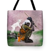 Awesome Village Woman Realistic Painting Tote Bag