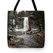 Awosting Falls In January #2 Tote Bag