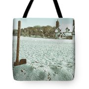 Axe In The Snow Tote Bag
