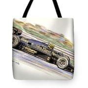 Ayrton Senna 1985 Tote Bag