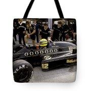 Ayrton Senna. 1986 German Grand Prix Tote Bag