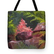 Azaleas - Sun And Shadow Tote Bag