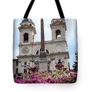 Azaleas On The Spanish Steps In Rome Tote Bag