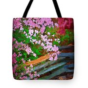 Azaleas Over The Fence Tote Bag