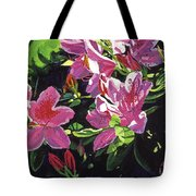 Azaleas With Dew Drop Tote Bag
