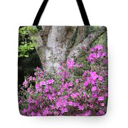 Azaleas With Tree Tote Bag