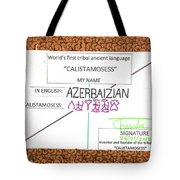 Azerbaizian Tote Bag