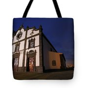 Azorean Church At Night Tote Bag