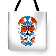 Aztec Inspired Sugarskull Tote Bag