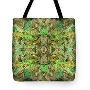 Aztec Kaleidoscope - Pattern 009 - Dark Olive Tote Bag