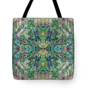 Aztec Kaleidoscope - Pattern 018 - Earth Tote Bag