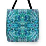 Aztec Kaleidoscope - Pattern 018 - Ocean Tote Bag