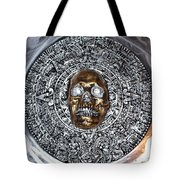 Aztec  Mayan Skull Warrior Calendar Relief Photo Tote Bag