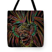 Aztec Skull Warrior Tote Bag